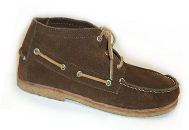 e5ab9fade Ботинки-мокасины мужские ANKLE BOOT - цвет темно-коричневый, замша / 6205