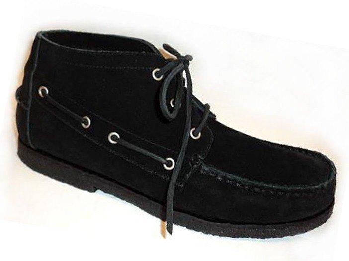 822fc56a1 Ботинки-мокасины мужские ANKLE BOOT - цвет черный, замша / 6210