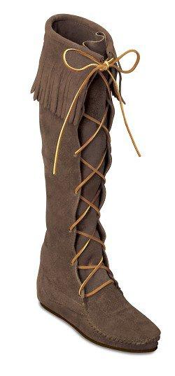 4f4e670e310a Сапоги ботфорты со шнуровкой - цвет темно-коричневый, замша / 1428